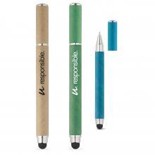 Bolígrafo ecológico de papel-cartón con punta táctil | 1391621