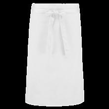 Delantal corto  Poliéster/Algodón   a partir de 25 uds.   205210vk Blanco
