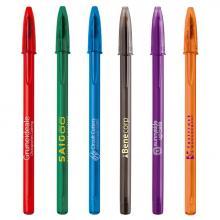 Bolígrafos BIC | Transparentes | Capuchón