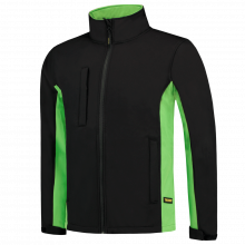Chaqueta Soft Shell | Bicolor | Tricorp Workwear | 97TJ2000 Negro / Lima