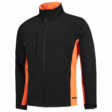Chaqueta Soft Shell | Bicolor | Tricorp Workwear | 97TJ2000 Negro / Naranja