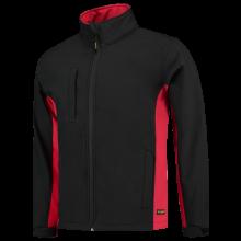 Chaqueta Soft Shell | Bicolor | Tricorp Workwear | 97TJ2000 Negro / Rojo