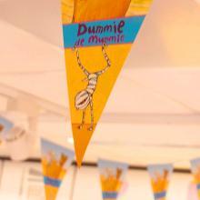 Guirlanda de banderines puntiagudos impreso en 1 color | 9440001