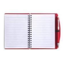 Cuaderno con diseño en espiral y bolígrafo. Formato A6   65 páginas alineadas   8035139