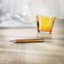 Bolígrafos de bambú l Tinta azul | Automáticos | max047