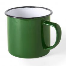 Tazas esmaltadas | 350 ml | Diseño vintage | 155571 Verde