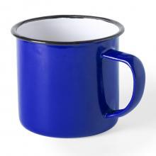 Tazas esmaltadas | 350 ml | Diseño vintage | 155571 Azul