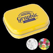 Lata pequeña   Caramelos de menta o de chocolate   72501100 Amarillo
