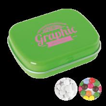 Lata pequeña   Caramelos de menta o de chocolate   72501100 Verde