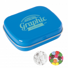 Lata pequeña   Caramelos de menta o de chocolate   72501100 Azul claro