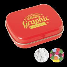 Lata pequeña   Caramelos de menta o de chocolate   72501100 Rojo