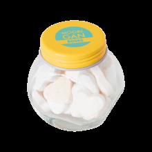 Tarro pequeño de caramelos | aproximadamente 30 g de corazones | 72503523 Amarillo