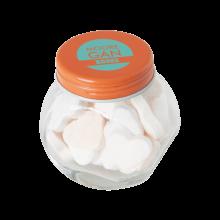 Tarro pequeño de caramelos | aproximadamente 30 g de corazones | 72503523 Naranja