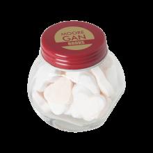 Tarro pequeño de caramelos | aproximadamente 30 g de corazones | 72503523 Rojo