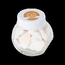 Tarro pequeño de caramelos | aproximadamente 30 g de corazones | 72503523 Blanco