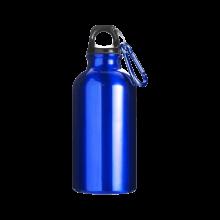 Botella de aluminio | 400 ml | Mosquetón | max141 Azul cobalto