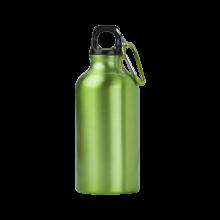Botella de aluminio | 400 ml | Mosquetón | max141 Verde claro