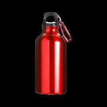 Botella de aluminio | 400 ml | Mosquetón | max141 Rojo