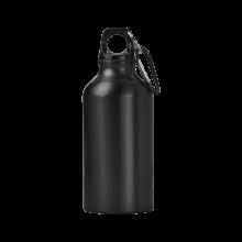 Botella de aluminio | 400 ml | Mosquetón | max141 Negro