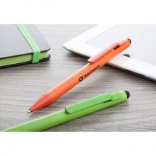 Bolígrafo stylus de tinta azul en acabado mate