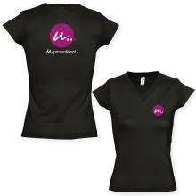 Camiseta de mujer   Cuello en V   150 g / m²