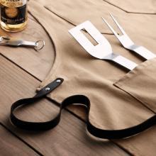 Delantal moderno de lona   Detalles de cuero   8759237
