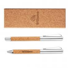 Conjunto de bolígrafos en caja de regalo de corcho | 8759678