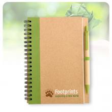 Cuadernos de materiales reciclados de formato A6 + bolígrafo