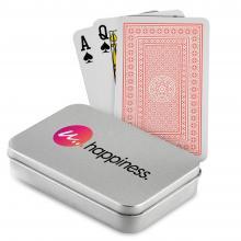 Juego de cartas poker | Caja impresa de metal