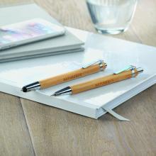 Conjunto de bolígrafo y lápiz de bambú | 8798111