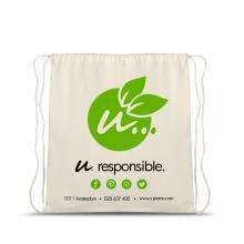 Bolso de algodón orgánico con estampados l 105 gr/m2