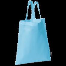 Bolsa sin tejer con asas cortas   9191378 Azul claro