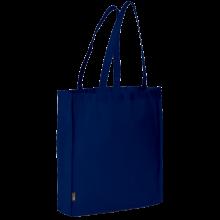 Bolsa sin tejer con asas largas l 42x38x9 | 9191479 Azul oscuro