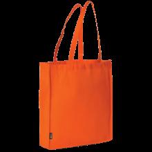 Bolsa sin tejer con asas largas l 42x38x9 | 9191479 Naranja