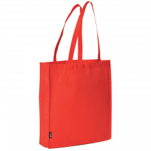 Bolsa sin tejer con asas largas l 42x38x9 | 9191479 Rojo