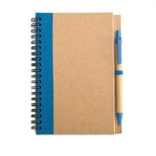 Cuadernos de materiales reciclados de formato A6 + bolígrafo | 8763775 Azul