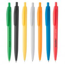 Bolígrafo de plástico de tinta azul