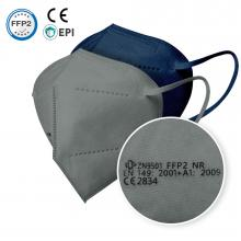 Mascarillas FFP2 gris o azul | Filtración >94% | Sin personalizar