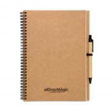 Cuadernos reciclados A4 | Con bolígrafo | 70 pag