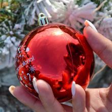 Bola de Navidad a color   Lustroso   80 mm   22001