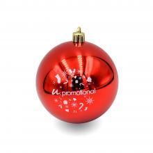 Bola de Navidad a color   Lustroso   80 mm   22001 Rojo