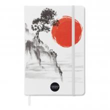 Cuaderno de tacto suave (A6) | 100 páginas alineadas | Proceso cuatro colores