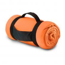Manta polar | Correa de transporte con logo | 8797245 Naranja