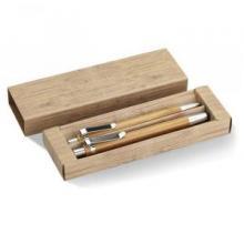 Conjunto de bolígrafo y lápiz de bambú