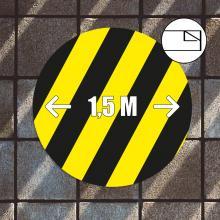 Pegatinas de suelo | Ronda | 30 x 30 cm | Antideslizante
