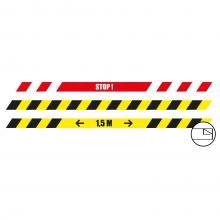Pegatinas de suelo | Alargado| 100 x 5 cm | Antideslizante
